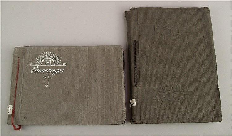 Konvolut Fotoalben - s/w Familienfotos,1x um 1910,ca.48 St.,ca.24x17cm; 1x ca.24 Fotos, Einband ''Erinnerungen'' um 1905,ca.22,5x16cm