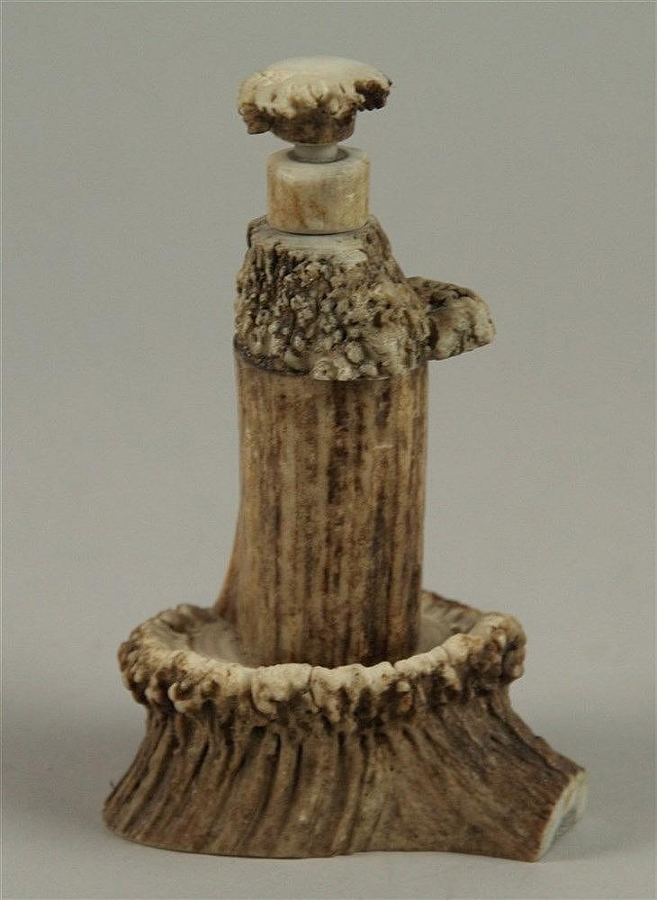 Schnupftabakflasche - Horn,um 1920, H.ca.14cm.