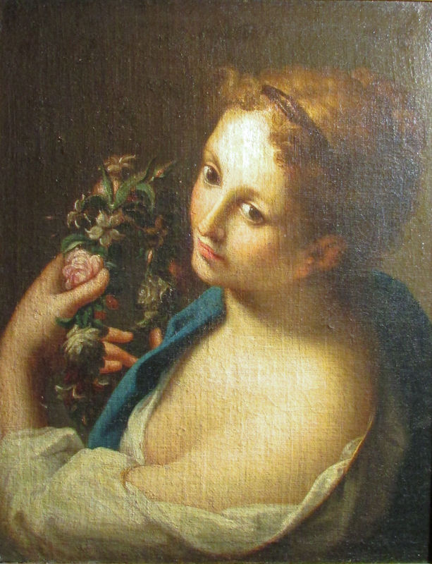 Old Master Painting After Francesco Mancini, Flora
