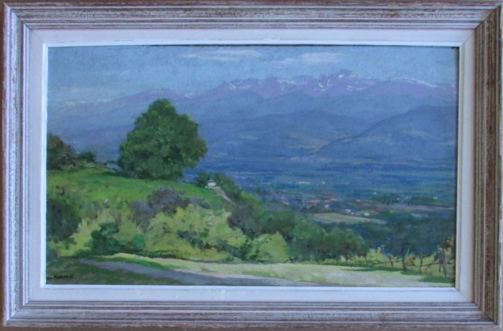 Jules Flandrin (French, 1871-1947), Vallée de l'Isère, Oil on panel