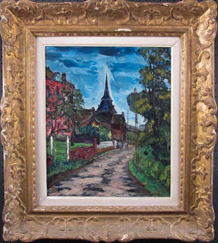 Armand-Henri Nakache (1894-1976), Clécy sur Orne, Oil on canvas
