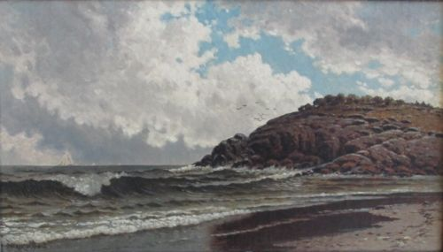 George W. Drew (American, 1875–1968), New England Coast, 1935, Oil on panel