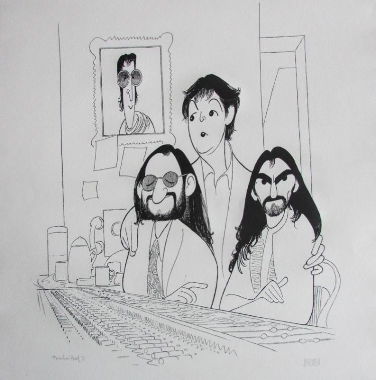 Al Hirschfeld, Beatles 2000, Printer's Proof Edition Lithograph