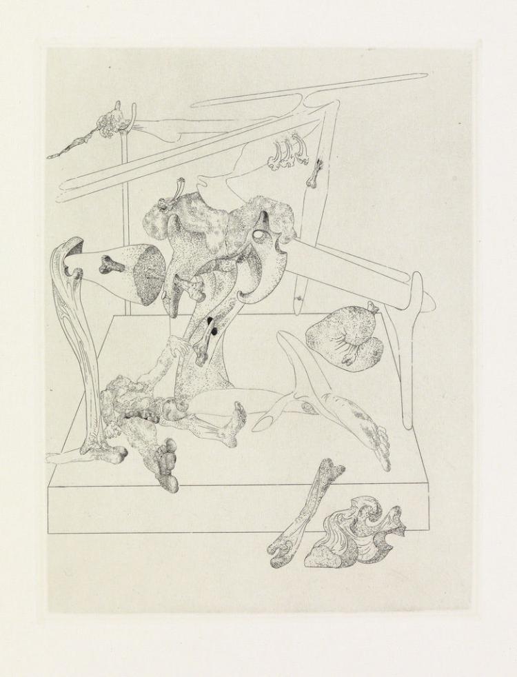 Salvador Dali, Put to Death, Les Chants de Maldoror, 1934, Etching