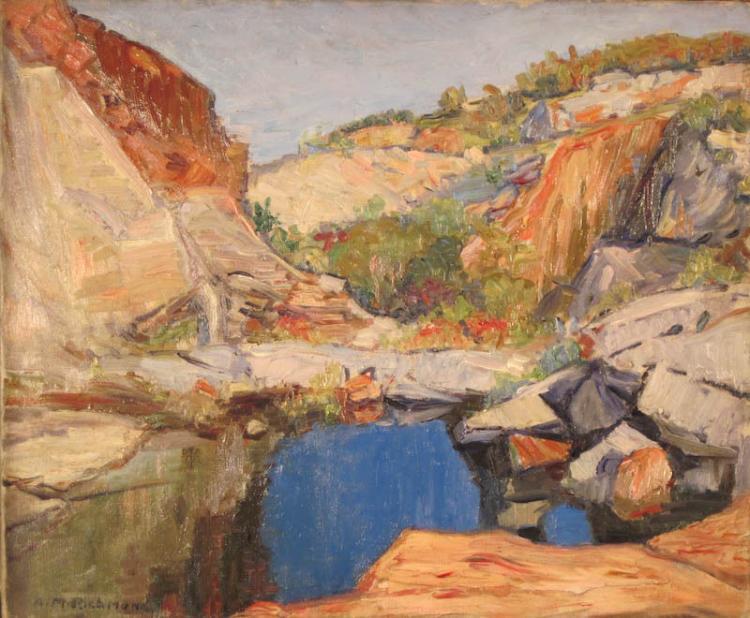 Agnes Millen Richmond (American, 1870-–1964), Landscape, Oil on canvas