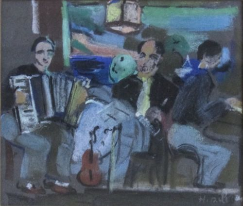 Henriette Deloras (French, 1901-1941), Trio, Pastel on paper