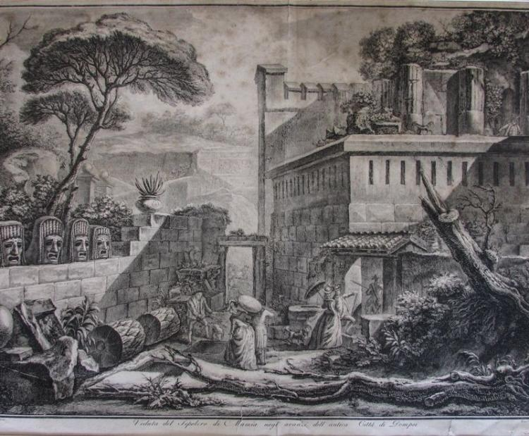 Francesco Piranesi (Italian, 1758-1810), Pompeii Excavations, 1789, Etching