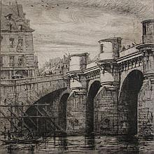 Charles Meryon (French, 1821–1868), Le Pont Neuf, 1853, Etching on Laid Paper