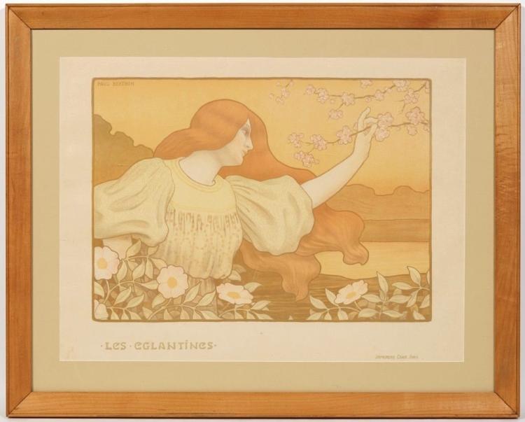 Paul Berthon (French, 1872-–1909), Les Eglantines, 1900, Lithograph