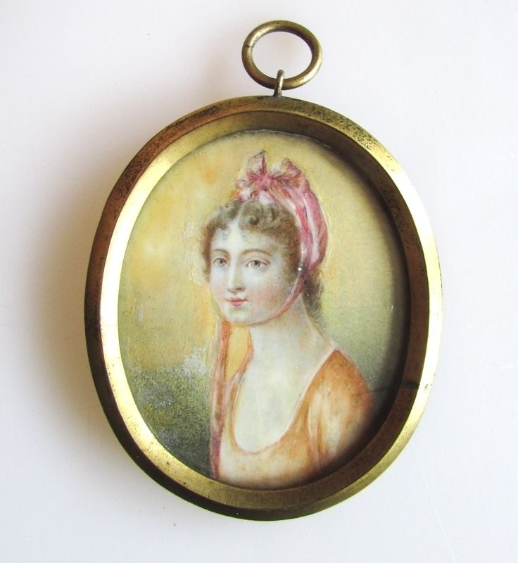 A Late 18th Century Miniature Portrait of a Young Lady, Manner of William Wood