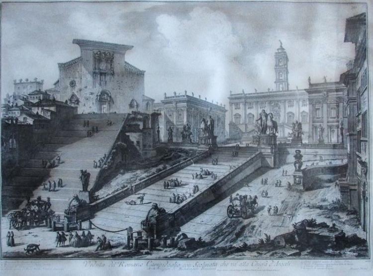 Giovanni Battista Piranesi, Veduta Del Romano Campidoglio, Etching, Regia Calcografia Edition