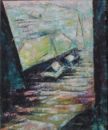 Rosamund Hirschman, Brooklyn Dock, 1956, Oil on canvas