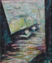 Rosamund Hirschman, Brooklyn Dock, 1956, Oil on canvas