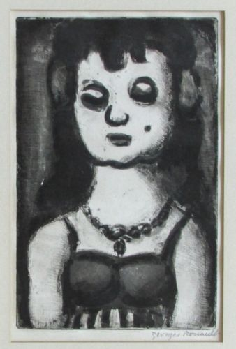 Georges Rouault (French, 1871-1958), Sainte-Nitouche Réincarnation de Père, 1919, Etching