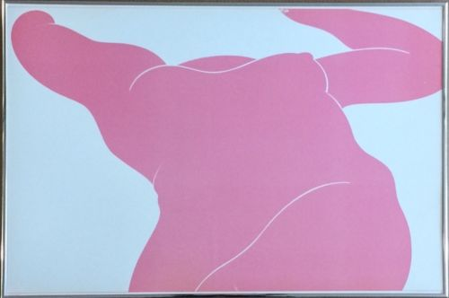 Milton Glaser (American, b 1929), Foreshortened Nude, Pink, 1977, Lithograph Poster