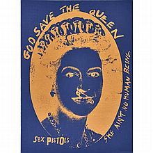 Jamie Reid (British, b.1947) God Save the Queen, Sex Pistols, Silkscreen Poster