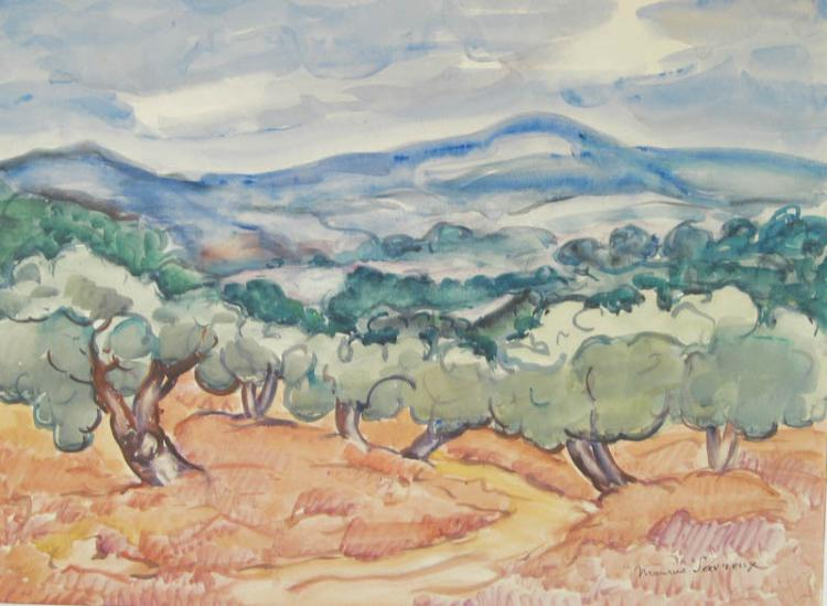 Maurice Savreux (French 1884-1971), Provence, Watercolor