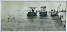 Nicholas Berger (American, b. 1949), Sunday Morning, Watercolor