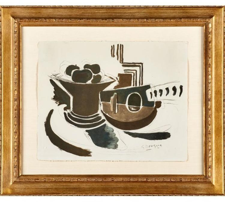 Georges Braque, Le Mandoline from the Espace Portfolio, 1957, Lithograph
