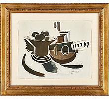 Georges Braque, Le Mandoline from the Espace Portfolio, 1957, Lithograph