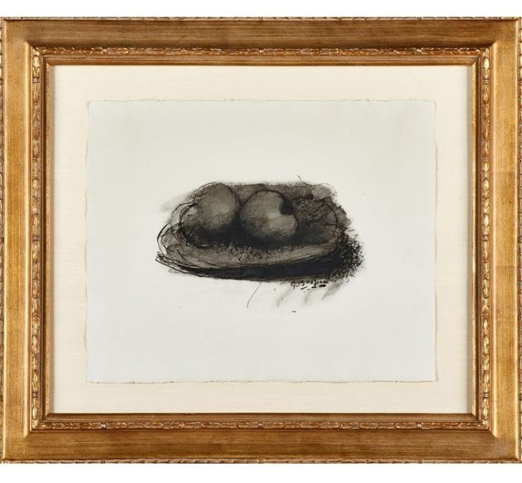 Georges Braque, Les Pommes from the Espace Portfolio, 1957, Lithograph