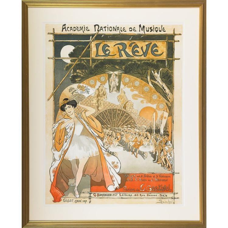 Théophile Alexandre Steinlen, Le Reve, 1890, Lithograph, Vintage Poster