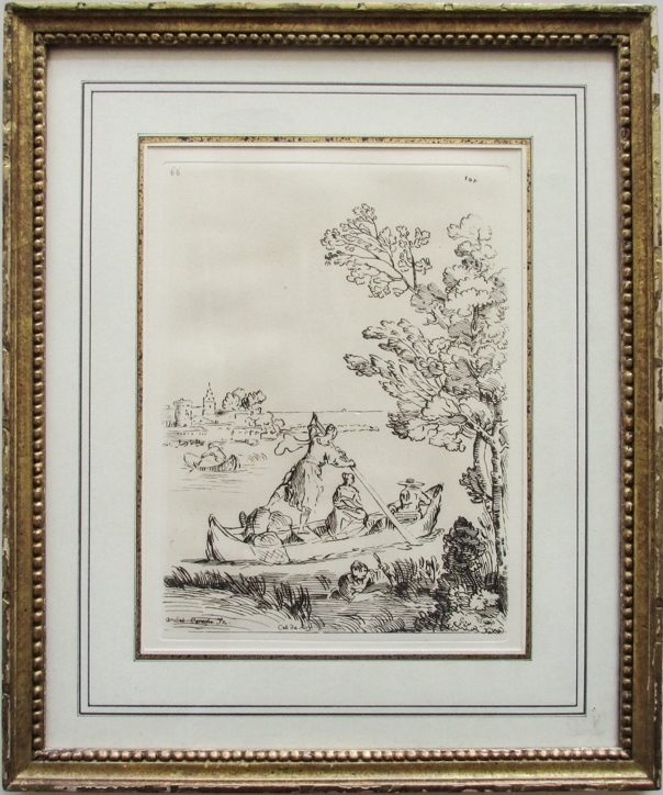 Annibale Carracci (After), Cabinet du Roy, Etching, 18th Century