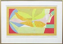 Jacques Villon (French, 1875-?1963), Oiseau en Vol, 1957, Lithograph