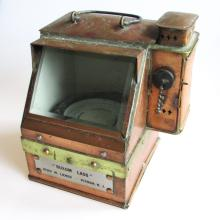 Vintage WWII US Navy Binnacle, Nautical Compass, Kerosene Lamp, Lionel Corporation