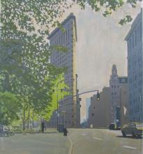 Richard Mills (American, b. 1947), Madison Square Flatiron Building, 1983, Silkscreen