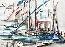 William L'Engle (American, 1884 - 1957), St Tropez, France, 1922, Watercolor