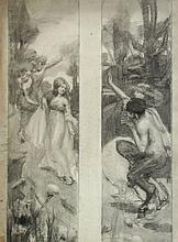 Agnes Millen Richmond (American, 1870-1964), Graphite Illustration Drawing, c.1905