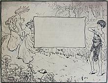 Agnes Millen Richmond (American, 1870-1964), Illustration Drawing, c.1905