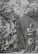 18th Century Old Master Engraving, The Annunciation