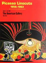 Pablo Picasso, Linocuts, The American Gallery, 1968, Vintage Exhibition Poster