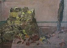 Pierre Courtens (Belgian, 1921-2004), Corfu, Oil on canvas