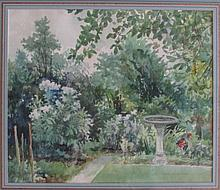 Carle Michel Boog (Swiss/American, 1877-1967), Garden, Watercolor
