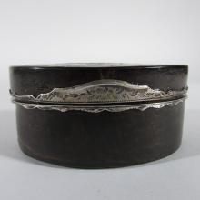 Georgian Period French Silver Mounted Faux Tortoiseshell Snuff Box, 18th Century