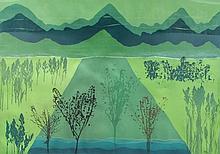 John Patrick Garufi (American b.1940), Emerald Equinox, 1975, Aquatint Etching
