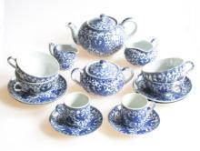 A Vintage Japanese Noritake Porcelain Tea Set, Phoenix Howo Bird, Morimura Brothers