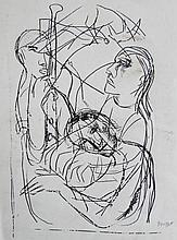 Josef Presser (American, 1907-1967), Carbon Transfer Drawing