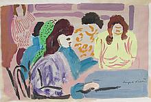Joseph Kaplan (American, 1900-1982), Gouache Painting, 1944