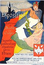Maitres de L'Affiche Lithograph Poster, Anvers et son Exposition, 1898, Plate 116