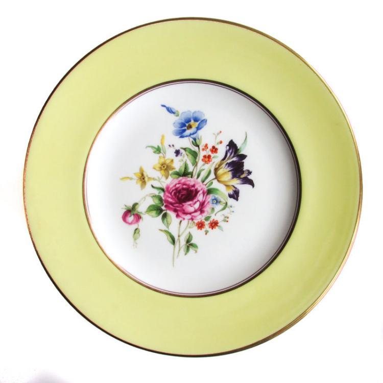 A Set of 12 Royal Worcester Porcelain Salad Dessert Plates Miranda Yellow  sc 1 st  Invaluable & A Set of 12 Royal Worcester Porcelain Salad Dessert Plates