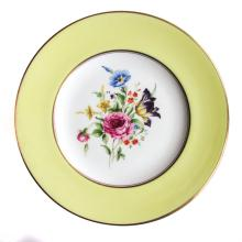 A Set of 12 Royal Worcester Porcelain Salad Dessert Plates, Miranda Yellow