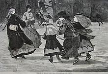 Winslow Homer, Winter A Skating Scene, Harper's Weekly, 1868, Wood Engraving