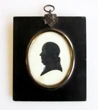 A Georgian Period Silhouette Portrait of a Gentleman, English 19th Century