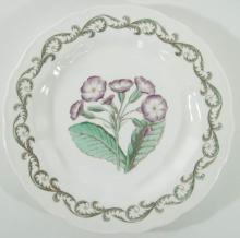 A Set of 12 Vintage Royal Worcester Enameled Porcelain Botanical Plates