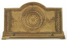 Antique Empire Style Gilt Metal Letter Rack & Stamp Box Desk Set, circa 1900