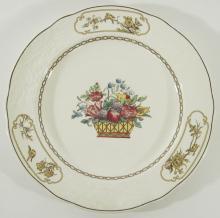 A Set of 12 Antique English Spode Copeland Porcelain Dessert Plates, c.1920